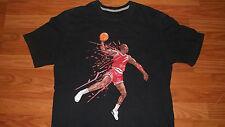 Large Michael Jordan Art T-Shirt Basketball AIR JORDAN NIKE