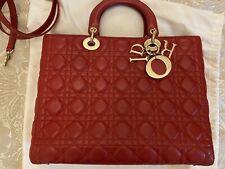 Splendido Rosso Ciliegia Grande Borsa Lady Dior