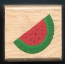 Watermelon Slice Garden Melon Fruit Seeds Rind Food New wood mount Rubber Stamp