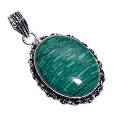 Colgantes de joyería verdes malaquita