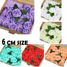 WOW Large Rose Head Foam Flower 6 cm Roses Wedding Craft Party Decor 6 Color NEW