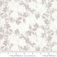 Stiletto~BY 1/2 YD~MODA FABRIC~BASICGREY~taupe flowers on cream background-30612