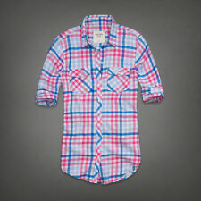 NWT  ABERCROMBIE & FITCH Maria Plaid Shirt  - women's size M  NEW
