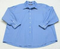 Kirkland Signature Blue Dress Shirt Cotton Long Sleeve 20 34 Mens Mans Button Up