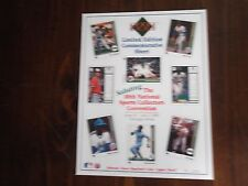 1989 10th National Sports Collectors Convention Upper Deck Limited Edition Sheet