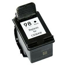 HP 98 Black C9364W Reman Ink Cartridge 45% More Output for Officejet 6310 Series