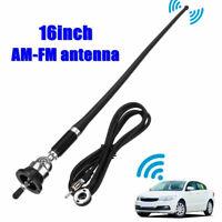 """16"""" Antenna Auto Radio Fibra Segnale Universale Perno Booster Tetto Parafango"""