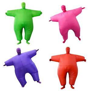 Kids Inflatable Fat Suit Blow Up Sumo Fancy Dress Costume, 3 Colours, Child