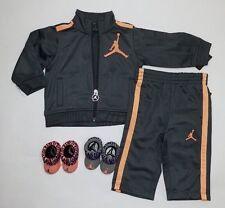 Jordan Baby Newborn 4-piece  Gift set  Jackets Booties  & Pants 3-6M Gray