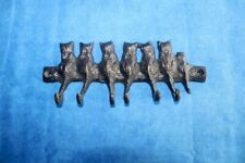 Cast Iron Key Rack - Wall Mount with Cats