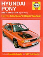 The Hyundai Pony Service Repair Manual (Haynes Service and Repair Manuals)