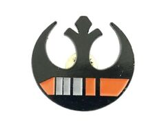 1/2 Wide Metal Enamel Pin Star Wars Rebel Forces Black/Orange 1