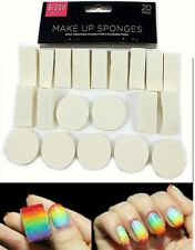 2 Packs of 20 Stamping sponges Ombre Nail art magic pigment powders applicator