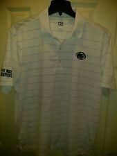 Cutter & Buck Penn State White With Light Blue Stripes XL CB DryTec Polo Shirt