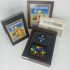 Parcheesi The Classic Game of India Wooden Bookshelf Box Vintage Game Collection