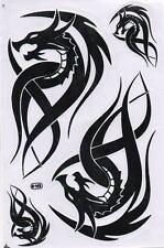 "D088 Dragon black Racing Tuning Sticker Decal 1 Sheet 10,5""x7"" / 27x18 cm"