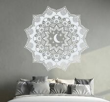 Bohemian Wall Decal Mandala Sticker Moon Decals Bedroom Window Yoga Decor DR7