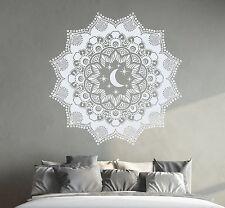 Bohemian Wall Decal Mandala Sticker Moon Decals Bedroom Window Yoga Decor DR7