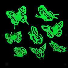Sticker Mural Autocollant Lumière Papillons Décoration Murale Chambre Maison