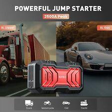 22000mah 2500amp 12v Car Jump Starter Automotive Battery Booster Charger
