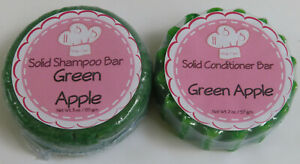 Green Apple Solid Shampoo & Solid Hair Conditioner Bar Set Health & Beauty