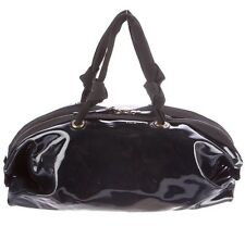 LANVIN Patent Leather Bowler Bag - Pre-owned