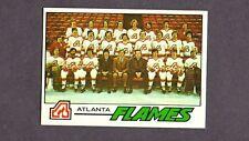 1977 Topps Hockey Set ATLANTA FLAMES TEAM Card # 71