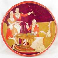 Art Deco Uneeda Biscuit Tin Colonial Men Women At Tea Nice Lithograph Vintage