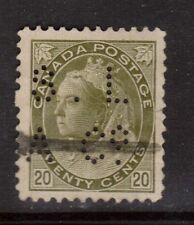 Canada #84 Used Rare Perfin Variety