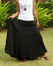 Plus Size Long Maxi Skirt Long Skirts for Women Boho Cotton Skirt * XS – XXL * A