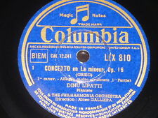 PIANO 4 x 78 rpm RECORDS Columbia DINU LIPATTI Concerto La GRIEG Valse CHOPIN