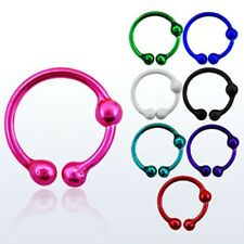 Fake Nose piercing No Hole Lip Ear @ Metallic COLOR SELECTION Ring
