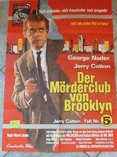 N4a Original Filmplakat Jerry Cotton DER MÖRDERCLUB VON BROOKLYN Schaukasten Fil
