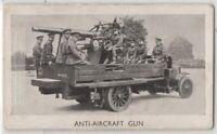 British Pre-WWII Lorry Mounted Anti Aircraft Gun 1930s Trade Card
