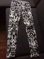 schwarz weiss Hose Jeans von H&M Gr 34 XS Marant Style