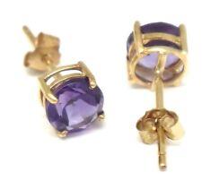 Pendientes de joyería de oro amarillo amatista