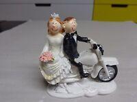 Figur Brautpaar , Motorrad, Tortenfigur, Deko, Hochzeit, Heirat, 8cm  NEU