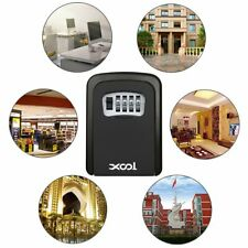4 Digit Outdoor Security Wall Mounted Key Safe Box Code Secure Lock Storage Case