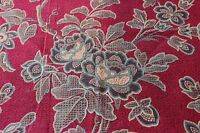 "Antique French c1870 Roses Home Dec Cotton Sample Textile Fabric~L-18""X W-31"""