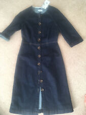 Warehouse Denim Fitted Button Through Dress Rockabilly 10