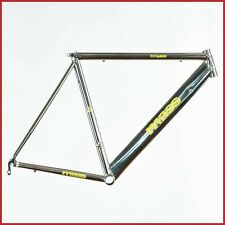 "MASS TITANIUM FRAME VINTAGE ROAD RACING BIKE TITANIO 90s BSA 1"" ROAD RACING BIKE"