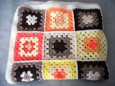 "Crochet Granny Square Blanket 53"" x 30"", Baby,Pet,Lap,Wheelchair,Cot,Pram"