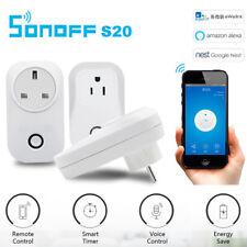 Sonoff S20 Wifi Smart Control Remoto Temporizador de aplicación de zócalo UK/EU/US/AU Plug Interruptor