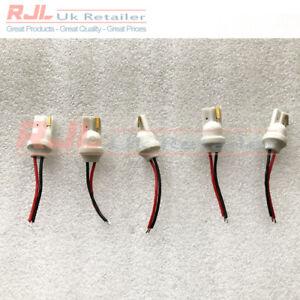 Improved 5 x T10 501 Car Plug-In Light Led Male Extension Socket Bulb Holders