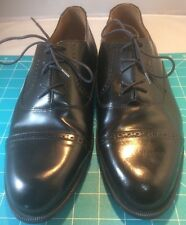 MEN'S STAFFORD DRESS SHOES SIZE US 11M BLACK LEATHER OXFORD CAP TOE