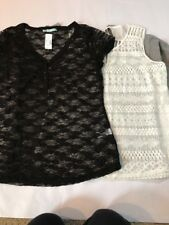 Lot Of 4 Maurices Tshirts - Nwt! Size XXL Lace! Black Off White