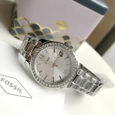 Fossil Watch * ES4317 Scarlette Crystals Silver Steel Date for Women COD PayPal