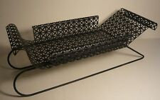 Vintage Fifties Metal & Wire Sleigh Fruit Bowl Sled Christmas Winter Decor