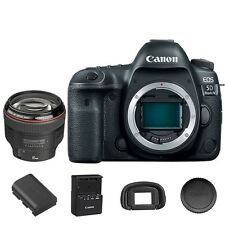 Canon EOS 5D Mark IV DSLR Camera Body with EF 85mm f/1.2L II USM Lens