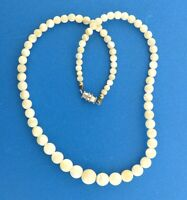 Mother of Pearl Shell Bead Necklace Strand 4-9 mm 17""